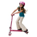 Razor PowerWing Caster Scooter in Pink for Girls