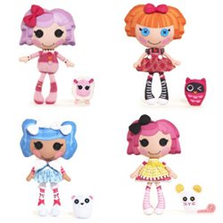 Four of the current Lalaloopsy Soft Dolls
