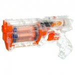 The Nerf Maverick Clear version toy gun