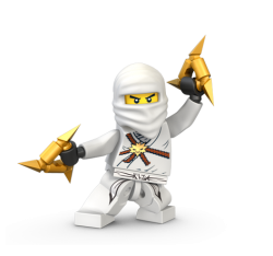 Lego Ninjago Zane DX and ZX