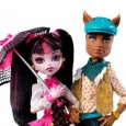 "There is a new power couple on the Monster High campus—supernatural power that is!  Draculara, daughter of the infamous Dracula, and Clawd Wolf, son of the Werewolf (and brother to Clawdeen Wolf) have hooked up. If you're already a big fan of Monster High and know all about this fabulous duo, then simply click on the ""Click Here For More..."