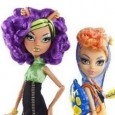 "Although described in the literature as ""Werewolf Twin Sisters"" Clawdeen and Howleen Wolf as presented in ""Campus Stroll"" release are actually just plain sisters. Clawdeen at fifteen is the older while Howleen is the baby of the Wolf family at fourteen years old (Brother Clawd is the eldest at 17).  Clawdeen is a taller doll with a more womanly shape,..."