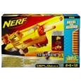 The Nerf Deploy CS-6 was released in 2010 as part of Nerf's N-Strike product line. Measuring 3.5 x 17.2 x 10.2 inches and weighing in the vicinity of 3.2 lbs, this is a kick ass blaster. You can also buy the Nerf Deploy in white, clear plastic or transparent green (the Whiteout, Clear and Sonic series respectively) if you want...