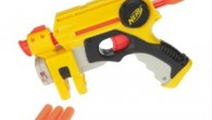 The Nerf Nite Finder EX-3 is an awesomely accurate single fire blaster with an impressive 40 foot firing range. The Nite Finder works on a direct plunger system.  It is noteworthy for having a built in adjustable beam light for firing outside in the dark or in darkened rooms.The Nerf N-Strike Nite Finder comes in lot's of different color variations...