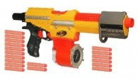 "Here's a Nerf gun for the afficionado. The Nerf Alpha Trooper was released in 2010 and can let rip five darts per second with a range of 35-45 feet. With 18 darts in the drum this is a pretty sweet piece of kit.  For current stock and prices click the ""Click Here For More Info"" button below or read Tommy's..."